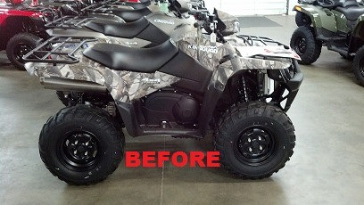 A before photo of an ATV