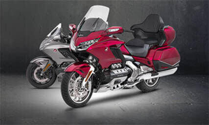 Image of two Honda Goldwing Motorcycles